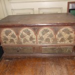 Early Lancaster County, PA,  Small Dower Chest in Original Paint  SOLD! for $61,000.00
