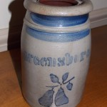 Greensboro Quart Peach Leaf Crock  SOLD! for $775.00