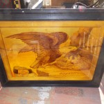 Patriotic Painted Glass Window  SOLD! for $350.00