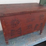 Early Red Paint Blanket Box  SOLD! for $2,100.00